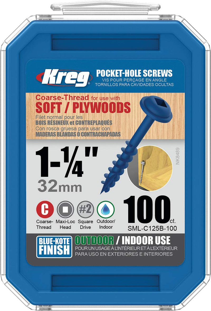Kreg Blue-Kote Wr Pocket Screws 1 1/4'
