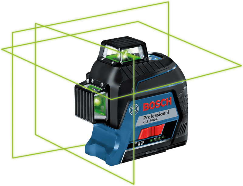 Bosch Professional Green Line Laser GLL 3-80 G - Power Tool Services