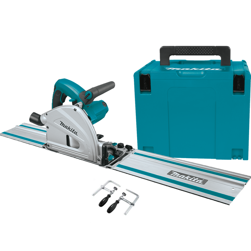 Makita Plunge Saw Sp6000J(K) + 1400 Rail + Clamps
