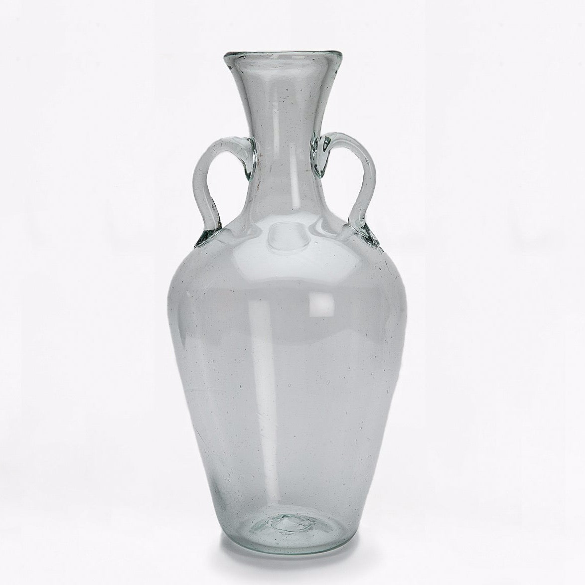 glass decanter with handles