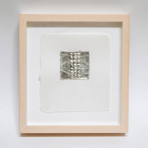 No. 3, 12kt white gold on Japanese paper