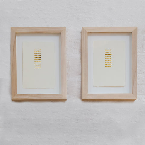 pair no. 1, 23kt gold leaf lines