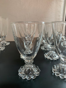 Clear Glass Bopie juice glass - set of 12