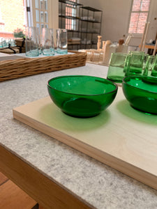 Green Glass low bowl
