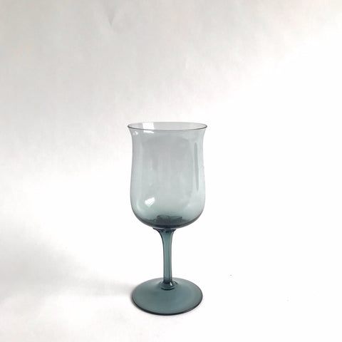 vintage grey glass red wine, set of 6