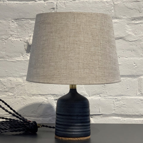 Jessie Lazar small matte black ceramic lamp