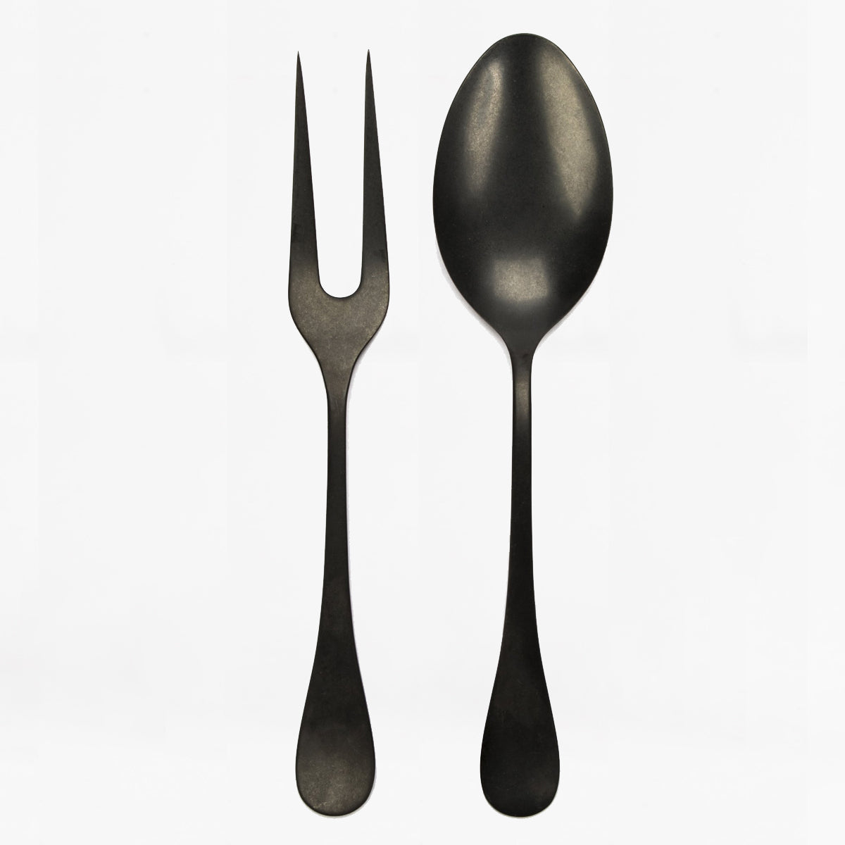 hudson serving set, 2 pc, stonewash black