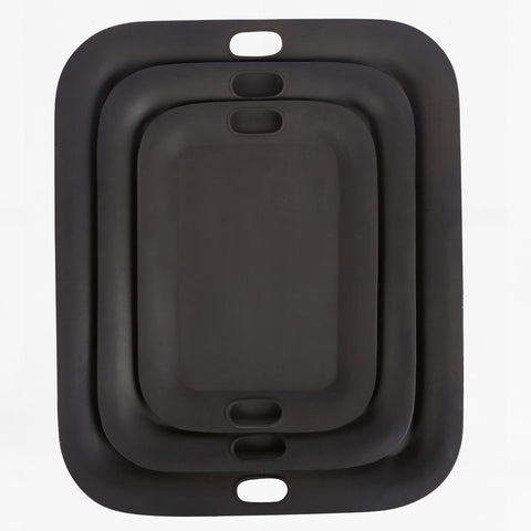 toleware nesting trays, black