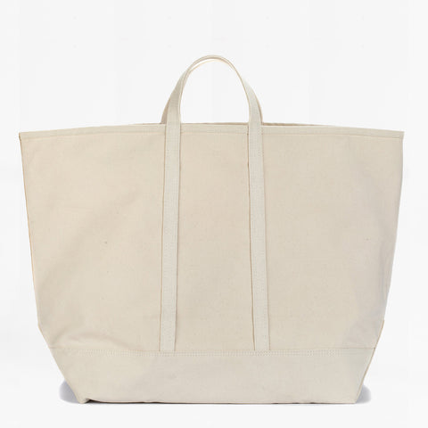 XL wide canvas tote