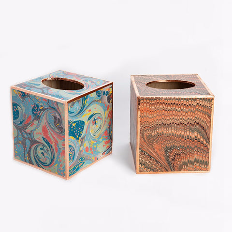 marbled paper tissue box