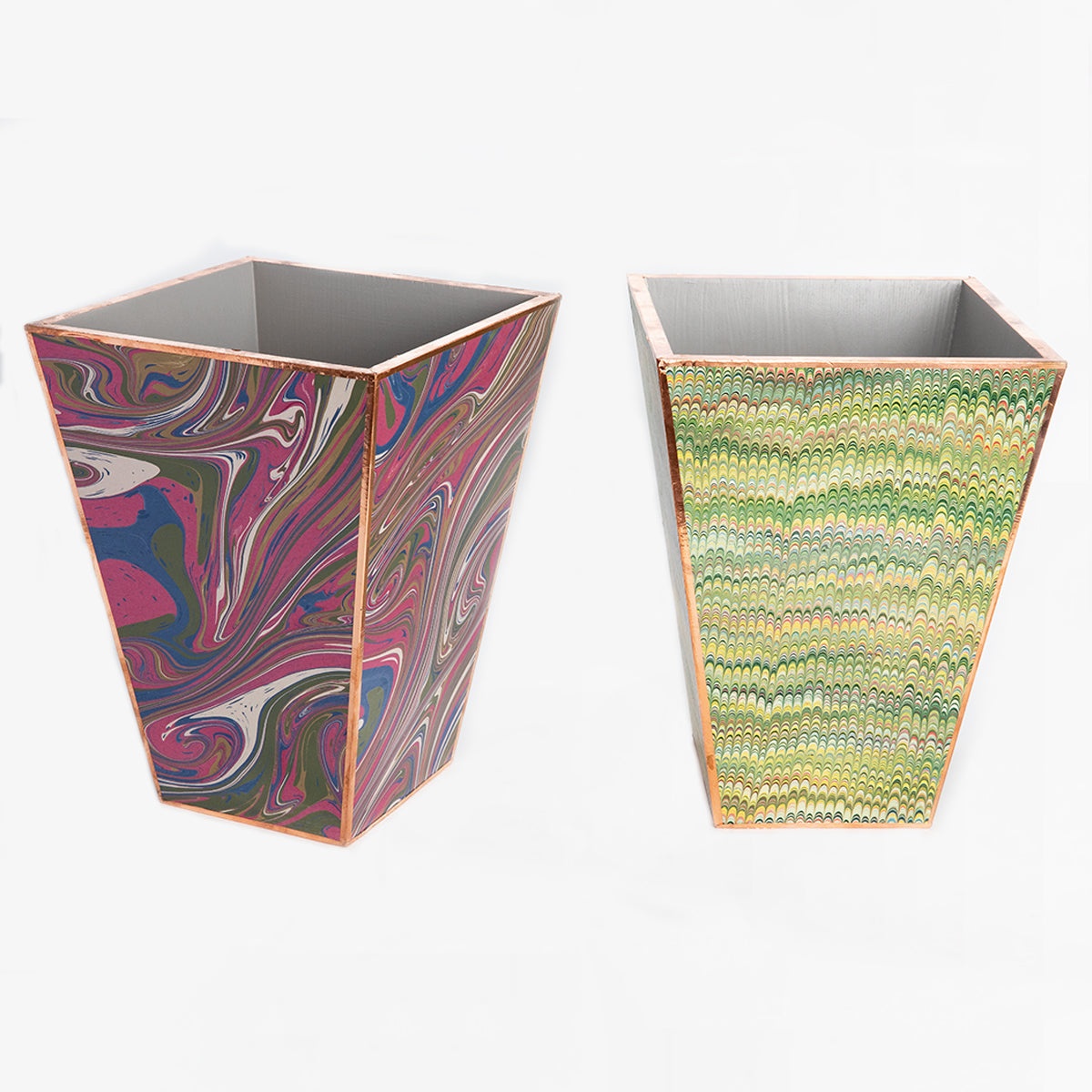 marbled paper wastepaper basket
