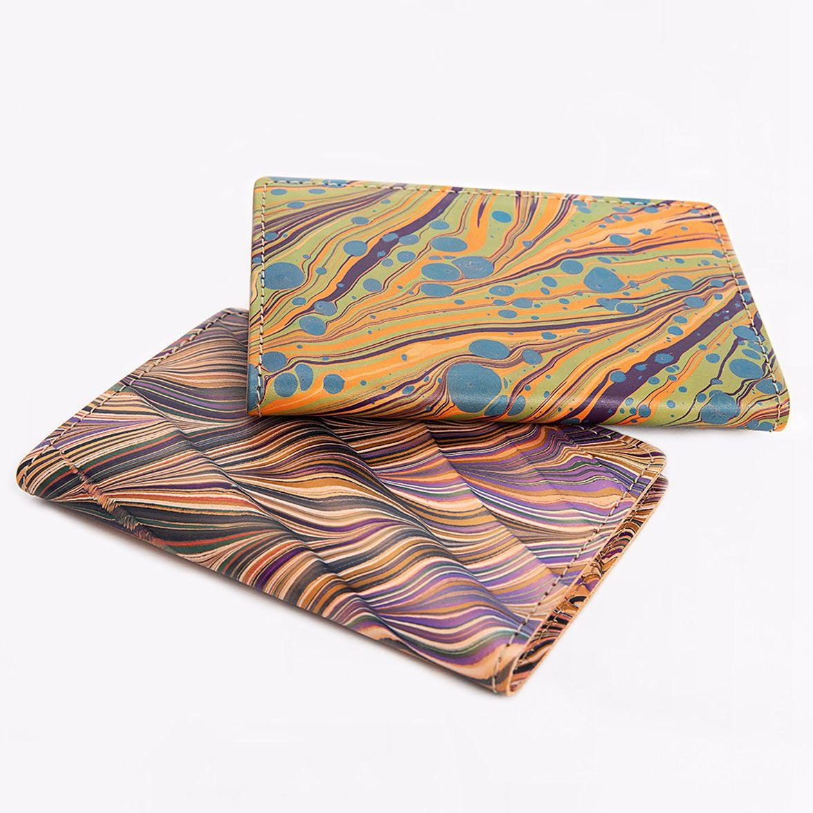 marbled leather notebook holder