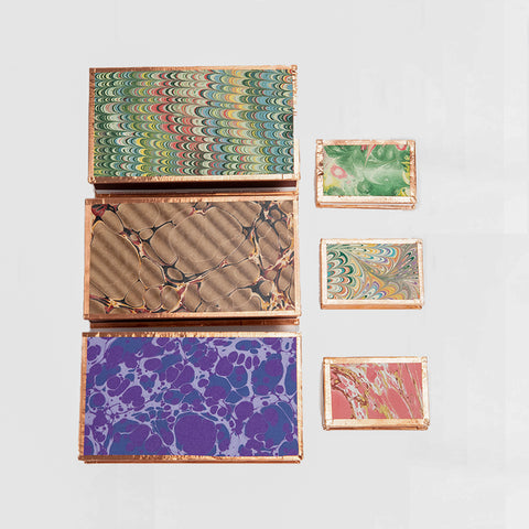 marbled paper matchbox
