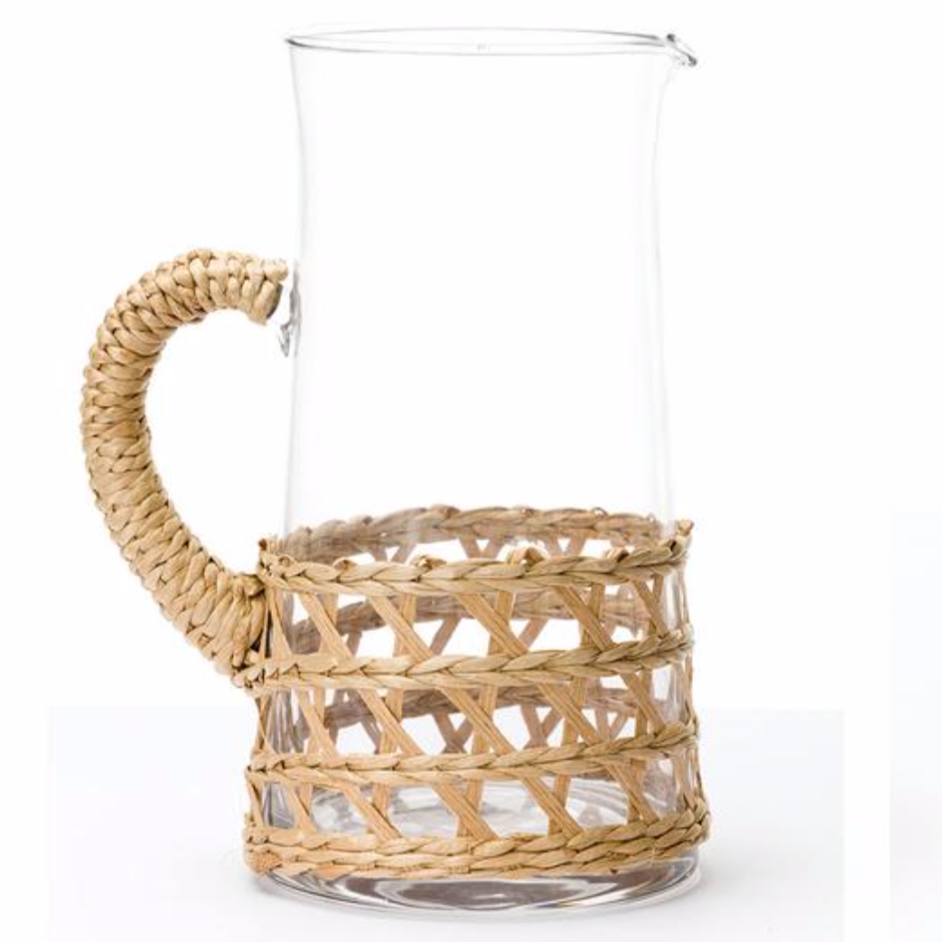 woven wrapped large pitcher