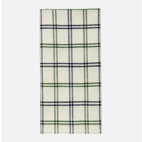 mayfair plaid napkins, hunter/navy