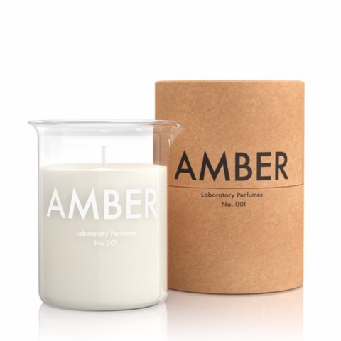 Laboratory Perfumes amber scented candle