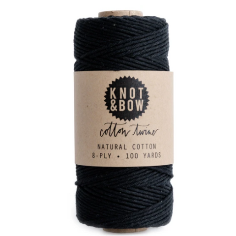 cotton twine, black