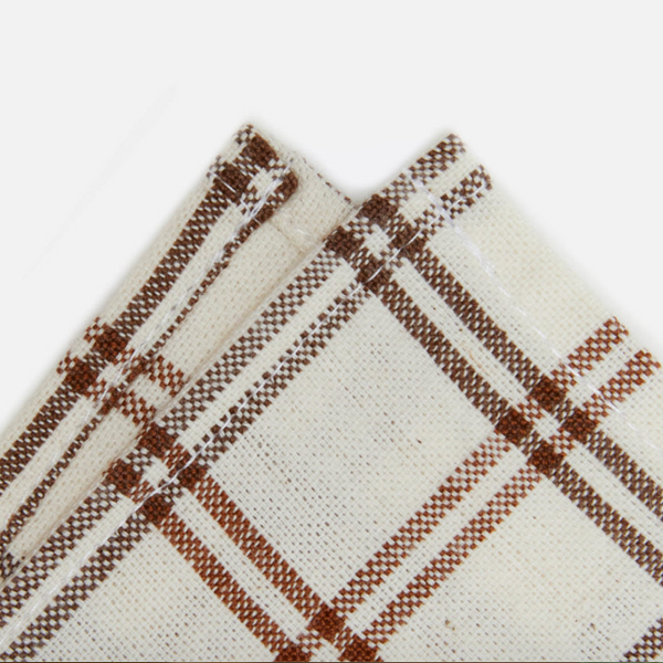 mayfair plaid napkins, nutmeg/walnut