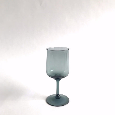 vintage grey glass white wine, set of 6