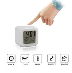 Table Alarm Clock with Date, Time, Temperature - lallntop.com