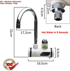 Instant Quick Water Heating in Bathroom, Kitchen Basin (Chrome, Large) - lallntop.com
