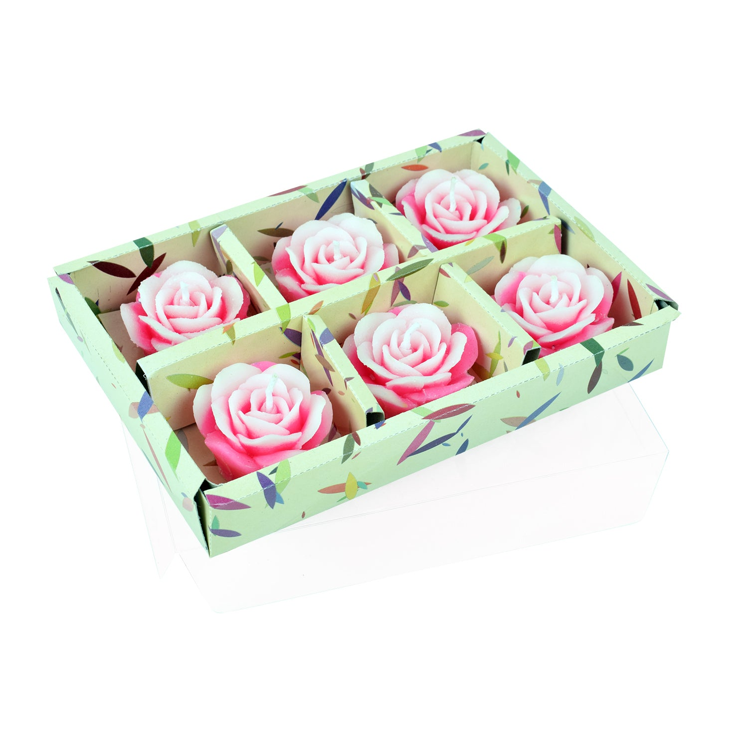 Wax flower roses floting candles - lallntop.com