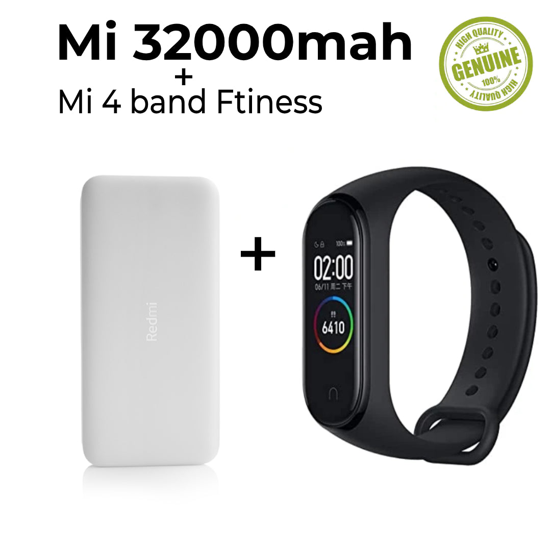 Mi powerbank with mi 4 activity tracker