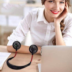 HANDS FREE PORTABLE NECK FAN RECHARGEABLE