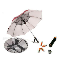 Smart umbrella with fan rechargeable