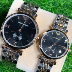 Branded armani couple watches