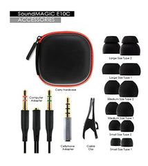 Soundmagic E10C in-Ear Wired Headphones with Mic (Black)