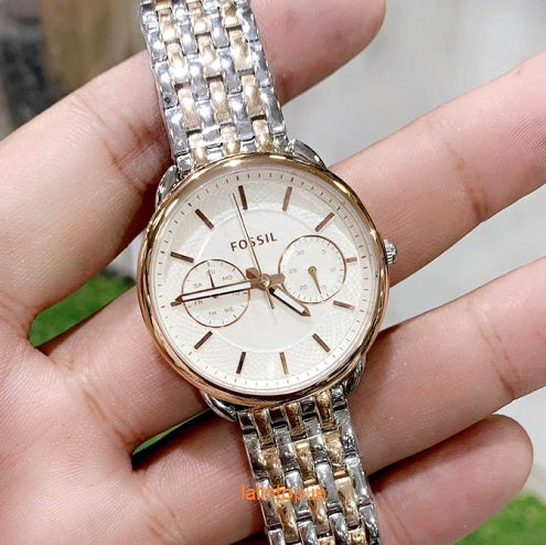 Fossil  Silver rose gold two tone watch Women's