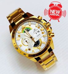 Casio Edifice New Model Golden Edition Tachymeter Men Fashion Watch