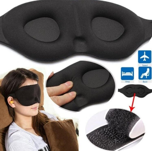 3D Sleeping eye mask Travel Rest Aid Eye Mask Cover Patch Paded Soft Sleeping Mask Blindfold Eye Relax Massager Beauty Tools - lallntop.com