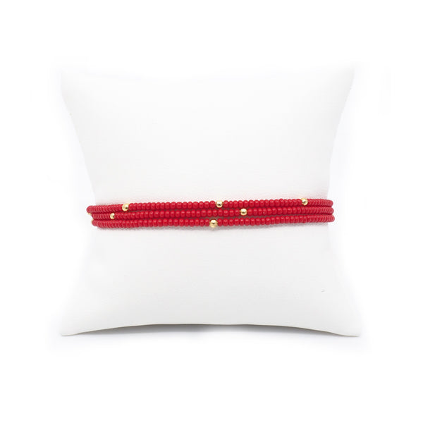 The Rouge Beaded Bracelet