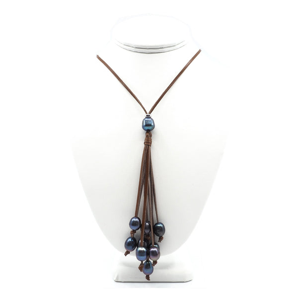 The Victoria Necklace in Blue Beads