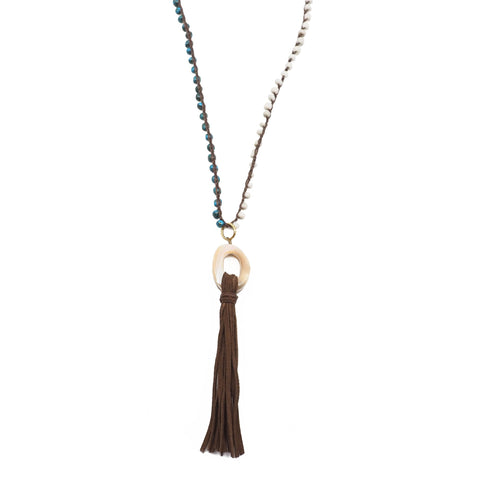 The Victoria Beaded Tassel Necklace