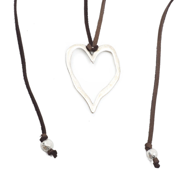 Lost My Heart in Leather Necklace
