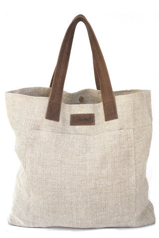 St. Barth's Tote in Tan