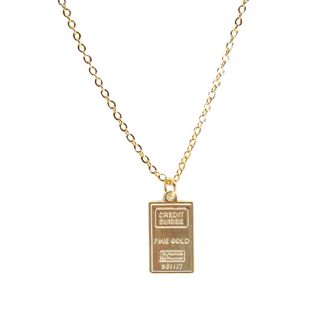 Credit Suisse Gold Bar Necklace