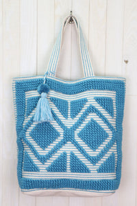Diamond Zip Tote