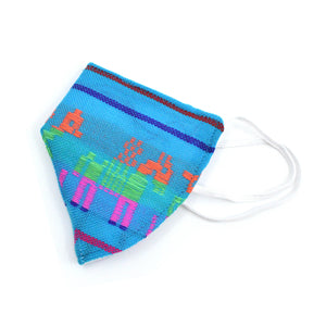 Face Mask - Blue Mexican Print