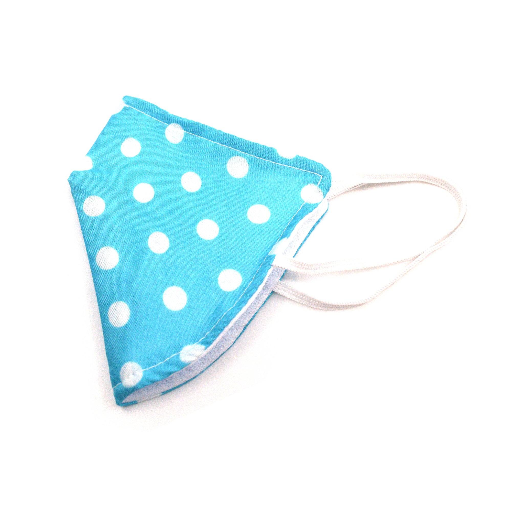 Face Mask - Blue Polka Dot