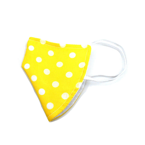 Face Mask - Yellow Polka Dot