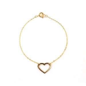 Follow Your Heart Silhouette Bracelet