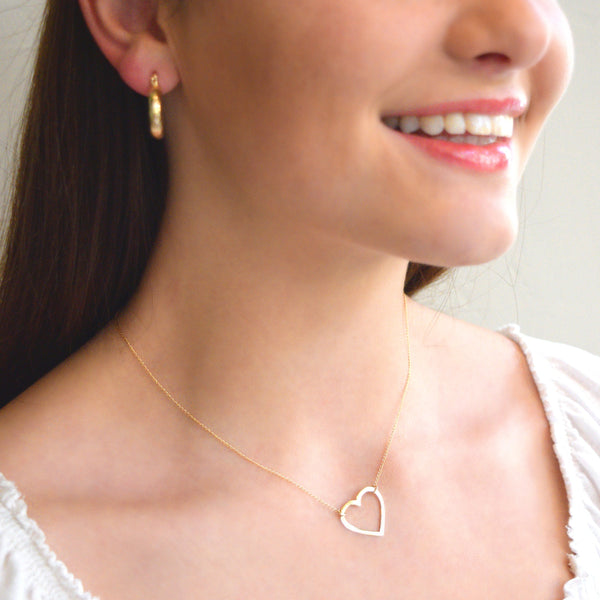 Follow Your Heart Silhouette Necklace