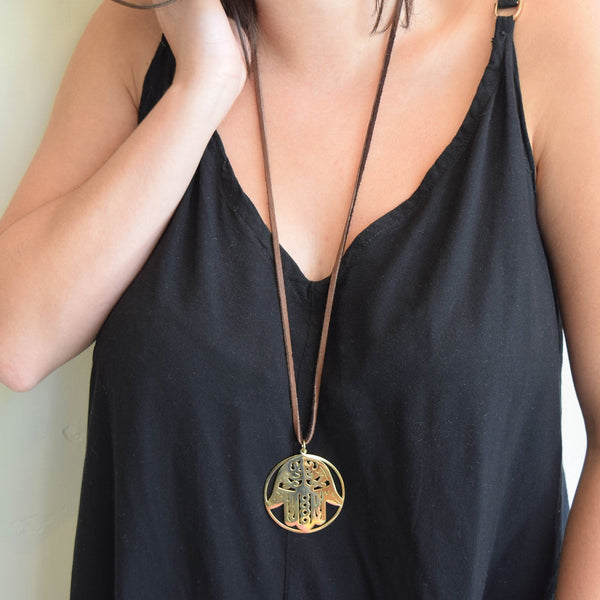 The Victoria Hamsa Necklace
