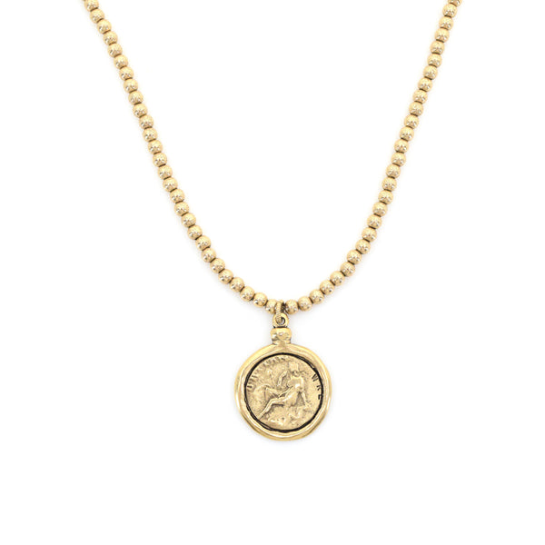 Goddess Necklace - Gold Eternity Stretch Necklace