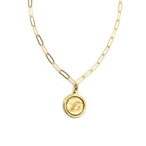 Goddess Necklace - Gold Paperclip Chain