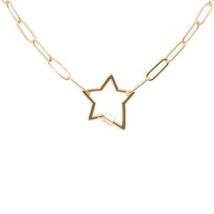 Written in the Stars Gold Chain Link Necklace - Paperclip Cable Chain